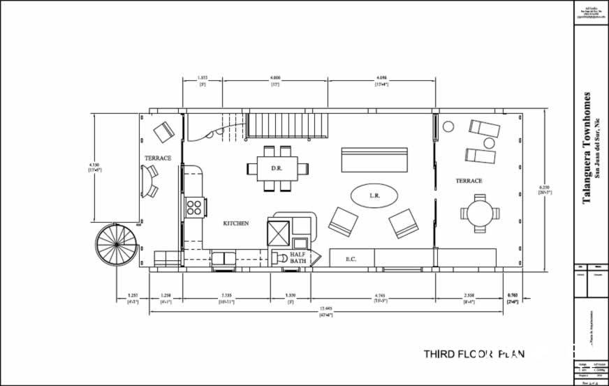Talanguera Townhomes Plan Third