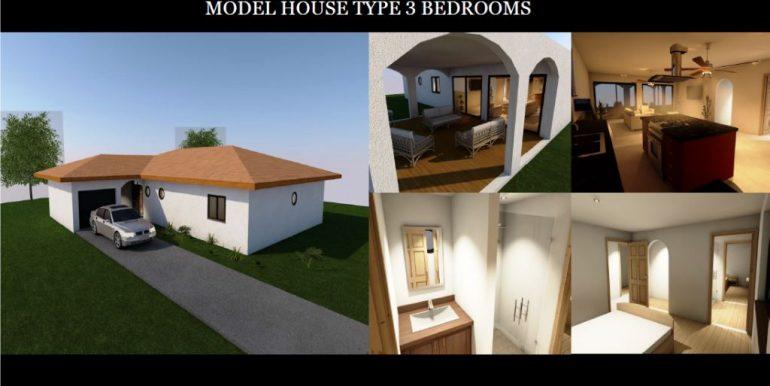 3 Bedroom model home with garage