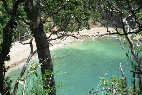 Cala Azul end of bay